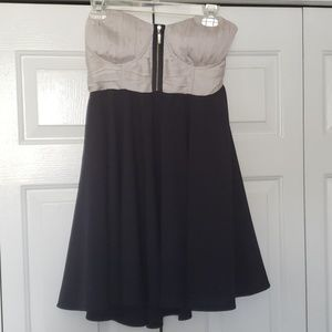 Flowy grey and navy dress